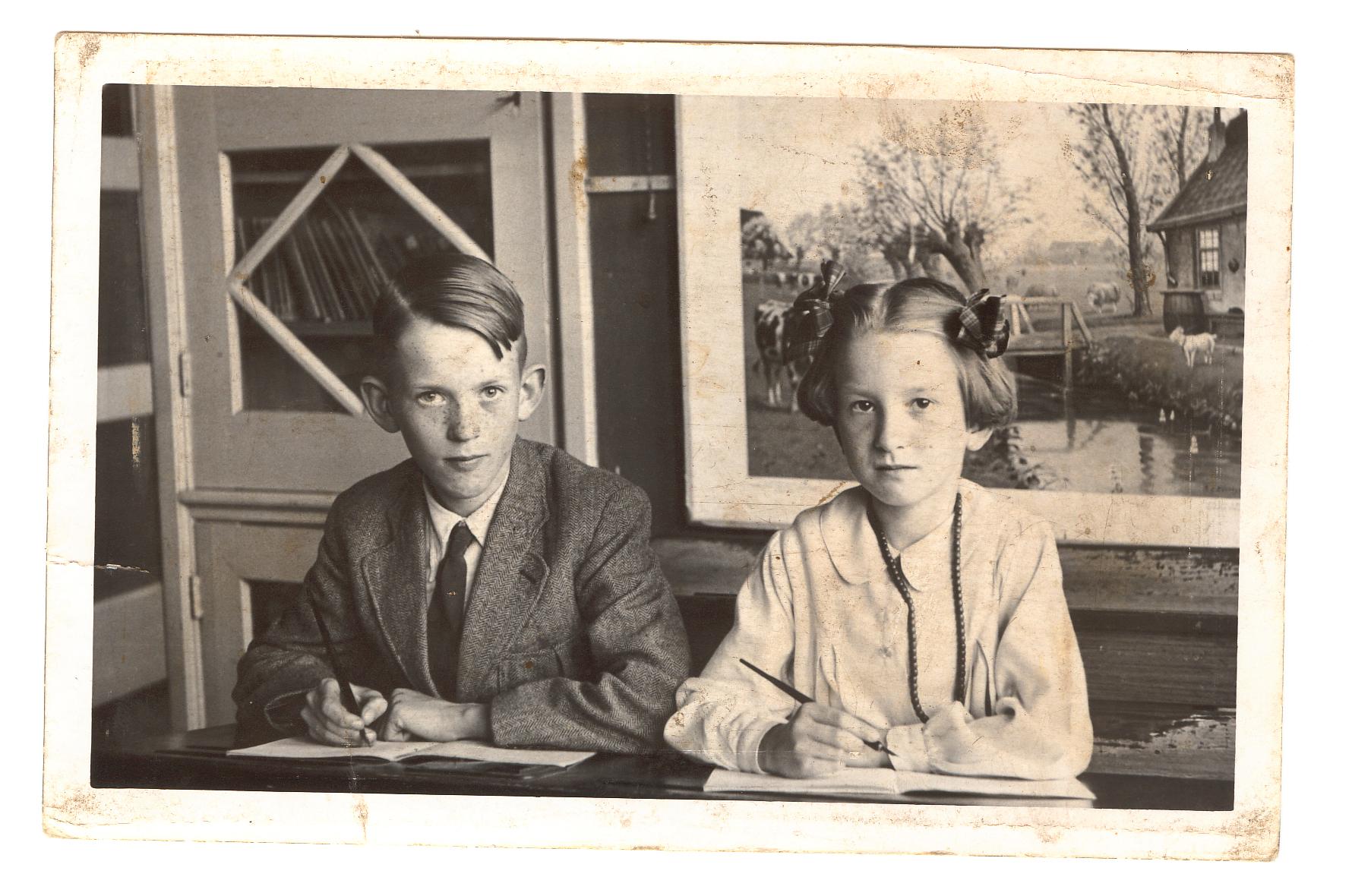 schoolfoto kinderen van der Schaaf